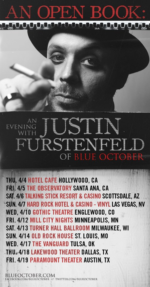 Justin Furstenfeld Open Book Tour Dates