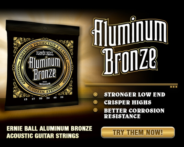 ernie ball introduces first and only aluminum bronze acoustic guitar strings music junkie press. Black Bedroom Furniture Sets. Home Design Ideas