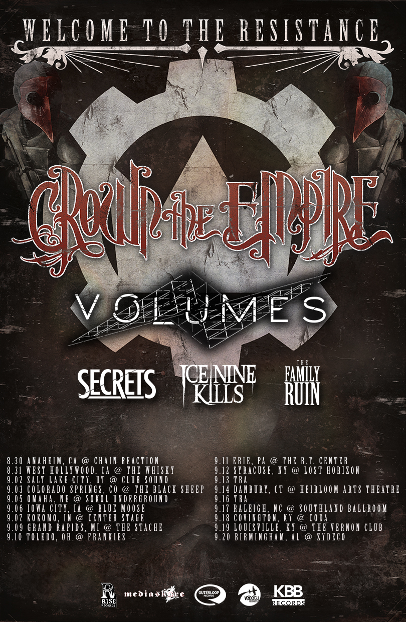 Crown The Empire The Fallout Album Art Crown The Empire annou...
