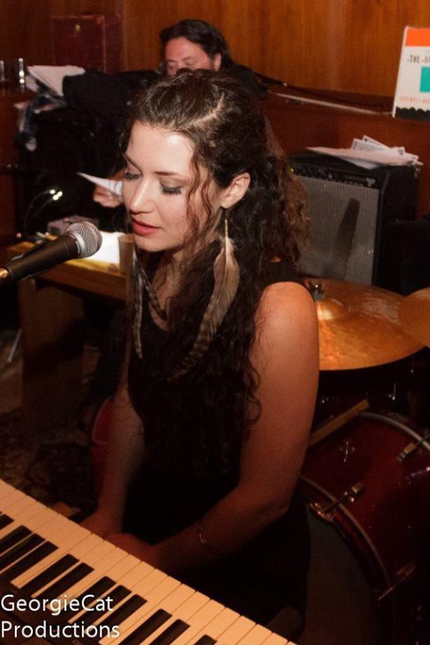 at piano