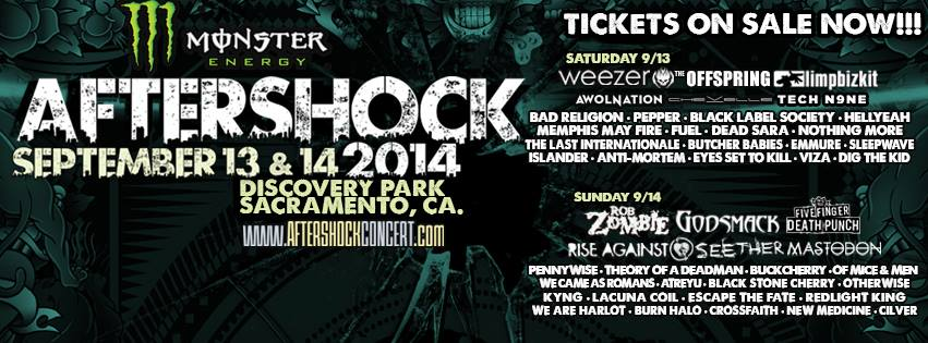 Aftershock adds TECH N9NE, ESCAPE THE FATE, ATREYU and