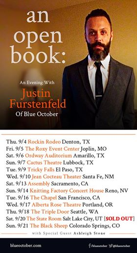 Blue October Songs From An Open Book Tour